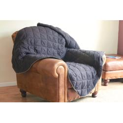 Ancol Quilted Sofa Throw Brown