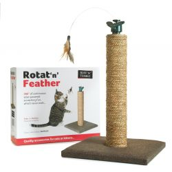 Rotat 'N' Feather Cat Scratching Post