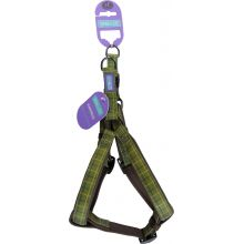 Hemm & Boo Check Harness Green Large