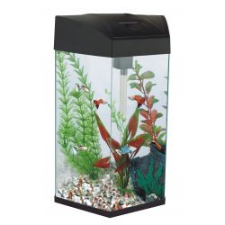 Fish 'R' Fun Hexagonal Tall Aqaurium  Black