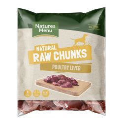 Natures Menu Natural Poultry Liver Chunks