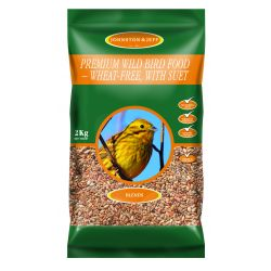 Johnston & Jeff Premium Wild Bird - Wheat Free with Suet
