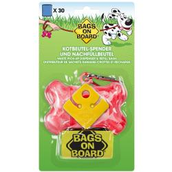 Bags On Board Bone Dispenser Marble Pink+30bag