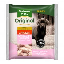 Natures Menu Original Chicken with Salmon Puppy Nuggets with Brown Rice