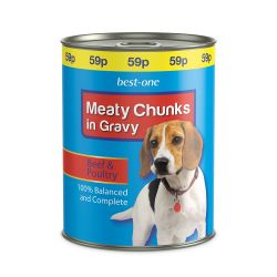 Best-one Dog Food Beef 59p