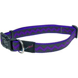 Hemm and Boo Zigzag Dog Collar Purple