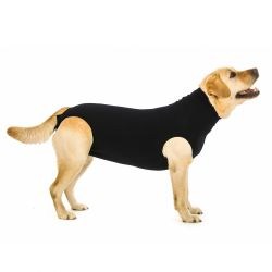 Dog Recovery Suit Black