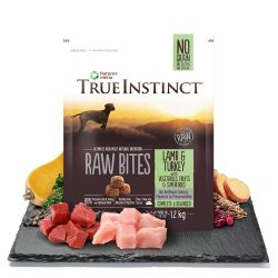 True Instinct Raw Bites Lamb & Turkey for Medium/Large Adult Breed Dogs