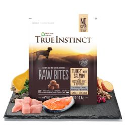 True Instinct Raw Bites Turkey with Salmon for Medium/Large Breed Adult Dogs