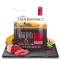 True Instinct Raw Bites Selected Beef for Small Breed Adult Dogs