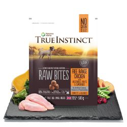 True Instinct Raw Bites Free Range Chicken for Small Breed Adult Dogs