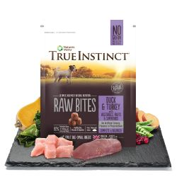 True Instinct Raw Bites Duck & Turkey for Small Breed Adult Dogs