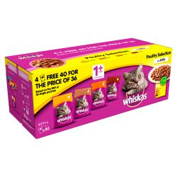 Whiskas 1+ Pouch Poultry Selection in Jelly 40/36