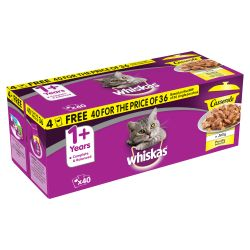 WHISKAS 1+ Cat Pouches Casserole Poultry Selection in Jelly 40/36