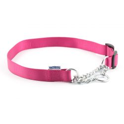 Ancol Half Check Collar Raspberry