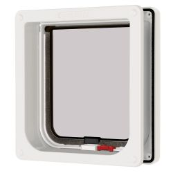 Cat Mate Lockable Cat Flap with Door Liner White