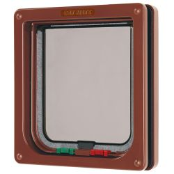 Cat Mate 4 Way Locking Cat Flap Brown