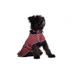 Ancol Highland Tartan Coat Red Small