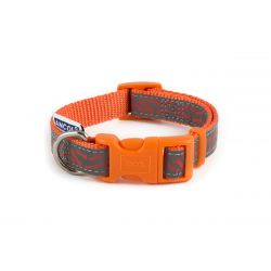 Ancol Collar Reflective Bone Orange