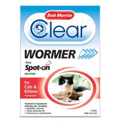 Bob Martin Clear Spot On Wormer - Cats & Kittens