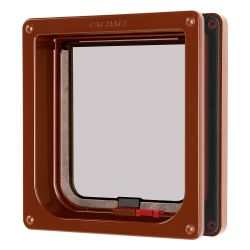 Cat Mate Lockable Cat Flap with Door Liner Brown