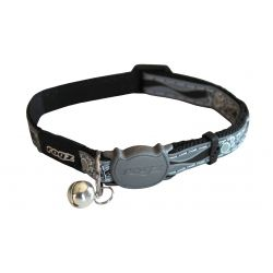 Rogz Night Catz Black Paw Cat Collar