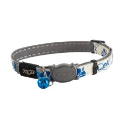 Rogz Glow in the Dark Catz Black Flower Cat Collar