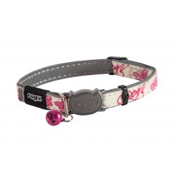 Rogz Glow in the Dark Catz Pink Butterfly Cat Collar