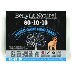Benyfit Natural 80.10.10 Mixed Game Meat Feast