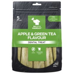 Billy & Margot Dental Treat Apple & Green Tea Large