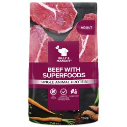 Billy & Margot Dog Adult Pouch Beef & Superfoods