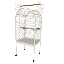 Lazy Bones Open Top Parrot Cage White