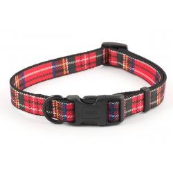 Ancol Adjustable Collar Tartan Red