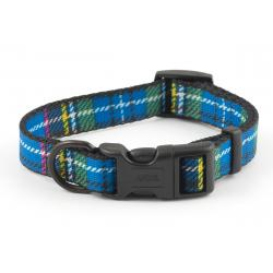 Ancol Adjustable Collar Tartan Blue