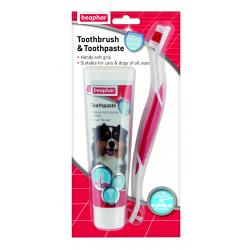 Beaphar Toothbrush & Toothpaste Pack