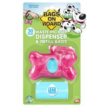 Bags On Board Dispenser Marble Pink + 30 Bags