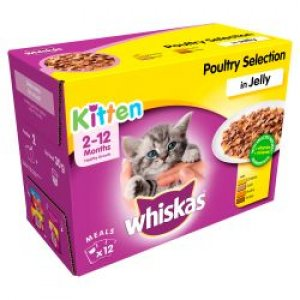 Whiskas Kitten 2 - 12 Months Pouches Poultry Selection CIJ