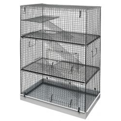 Lazy Bones Wire Rodent Cage Triple Storey 70x42x104cm :: Pet food